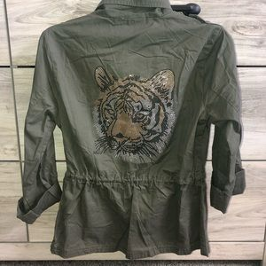 Green tiger coat